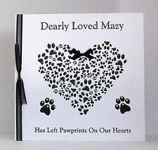 Large Personalised Pet Bereavement Card Loss of Pet Sympathy Cat/Dog