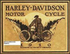 "Harley Davidson Art Photo Print- 1910 Harley Ad- 8 1/2"" x 10"""