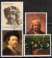Paraguay Arts Rembrandt Famous Paintings set 1978