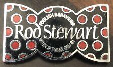Rod Stewart 1980-81 Foolish Behavior Tour Bow Tie Pinback Button