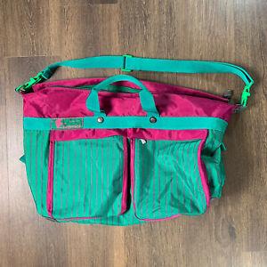 Vintage 90's Sammies Samsonite Luggage Bag Retro Teal Purple Shoulder Bag