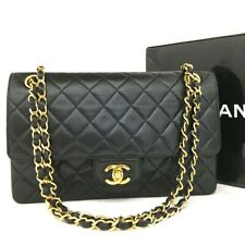 Vintage CHANEL Double Flap 25 Quilted CC Logo Lambskin Chain Shoulder Bag/oo246