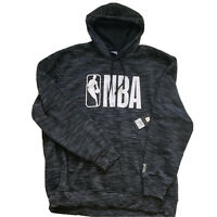 NBA Big Logo Mens Pullover Hoodie Sweater Gray White Black Size 3XL NWT