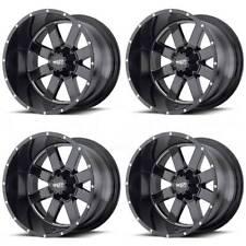 20x10 Moto Metal MO962 6x5.5/6x139.7 -24 Black Milled Wheels Rims Set(4)