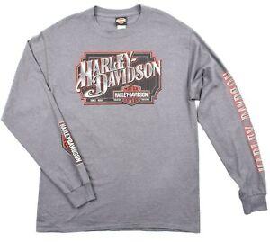 Harley-Davidson authentische Motorräder Männer Biker Langarmshirt Gr:2XL