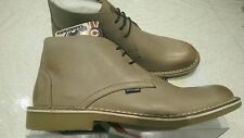 LAMBRETTA CANARY DESERT BOOTS MID Classic Leather Taupe Lace Up UK size 8