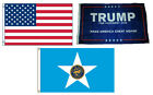 3x5 Trump #1 & USA American & City of Houston Wholesale Set Flag 3'x5'