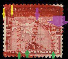1906 PANAMA SC 183 MULTIPLE ERRORS, EFOs  DOUBLE DISPL. INVERTED SURCHARGE RRR