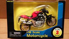 MAISTO Die Cast - 1/18 Scale Motorcycle Red/Black MV Augusta Brutale Sport Bike
