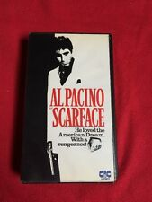 SCARFACE - VHS PAL 1ST HOME VIDEO RELEASE CIC EMBOSSED AL PACINO BRIAN DE PALMA