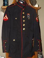 USMC Marine Corps Dress Blue Uniform Coat Size 37R
