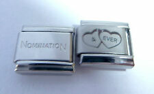 4EVER HEARTS 9mm Italian Charm +1x Genuine Nomination Classic I LOVE YOU FOREVER