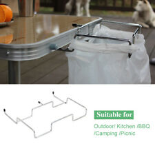 Table Trash Bag Rack Plastic Bag Holder Kitchen Bag Hanging Shelf Hook Stand USA