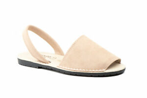 Damen Sandale   Org. Menorca-Sandale - Avarcas Menorquinas   Classic-Style Nubuk