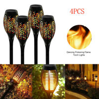 4X Solarleuchte Fackel 12 LED Licht Tanzen Flackernde Flamme Lampe Garten Dekor