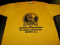 FRONTIERS INTERNATIONAL Convention 43rd Annual 1984 Newark NJ T-Shirt New MEDIUM