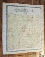 Antique MAP-PORTAGE TOWNSHIP - KALAMAZOO, Michigan/Ogle & Co.1910