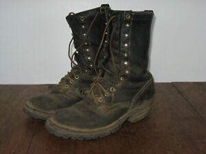 White's Men's Handmade Spokane WA Logger Wildland Firefighting Boots 8 1/2 D