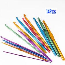 14 Taglie Uncinetti aghi Set Multi colori alluminio 2 millimetri-10mm HK