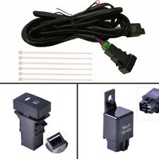 H11 H8 H9 40A Fog Light Wiring Harness Relay Kit ON/OFF LED indicators Switch