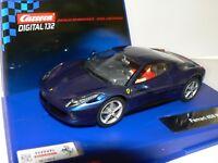 Carrera Digital132 30566 Ferrari 458 Italia blau NEU