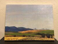 "Vintage Michael E. Bartlett Original Painting ""Turned Field"""