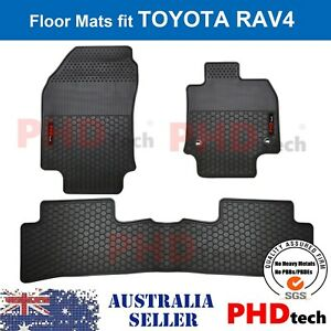 Premium Quality All Weather Rubber Floor Mats fit All New TOYOTA RAV4 2019+