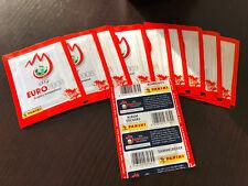 10x PANINI EURO 2008 EM 08 TÜTE BARCODE VERTIKAL PACKET PACK POCHETTE BUSTINA