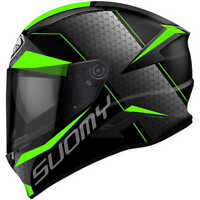 Casco integrale suomy Speedstar Rap green in fibra kawasaki