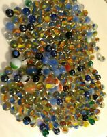 "255 Vintage Machine Made Marbles Estate Glass Akro Agate Swirl (250) 5/8"" (5) 1"""
