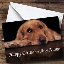 Triste encantador Perrito Personalizado Cumpleaños tarjeta de saludos