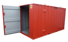 FLAMSTOR Walk-in Hazardous storage container 2000mm wide 3m long chemical store