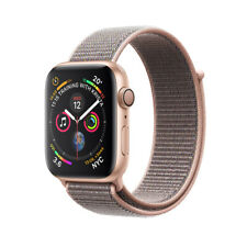 Apple Watch Series 4 44 mm Gold Aluminum Case with Pink Sand Sport Loop GPS