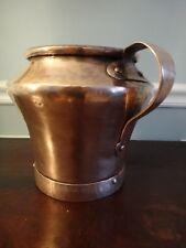 Antique Copper Tankard Bean Pot 18thC Dovetail Seams New Tin Lining Pan