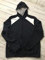 Mens Banana Republic Sweatshirt Jacket Sz M Hooded Zip Up Casual Pockets Medium