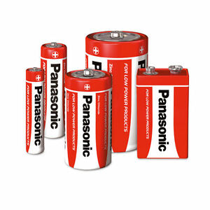 PANASONIC ZINC BATTERIES AA AAA C D 9V BUY 3 PACKS AND GET 1 PACK FREE