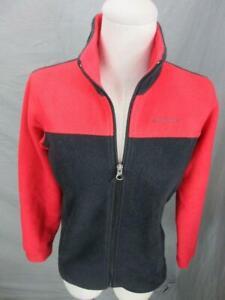 Columbia Size M(10-12) Boys Red/Black Full Zip Heat Thermal Fleece Jacket T967