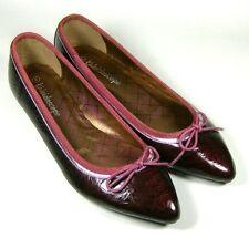Kaleidoscope ladies Womens Burgundy Red Bow Pumps Flat Shoes Size 6 EU 39