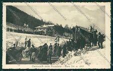Bergamo Cantoniera della Presolana Gare Sci cartolina EE7750
