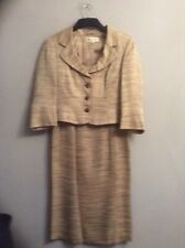 PHASE EIGHT Beige Mix  Dress Suit. Size 12. Good Condition.Lined.Occasion.Lined