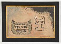 Lev Kropivnitsky Artwork Russian Expressionist Original Signed Oil Painting Rare