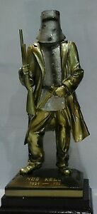 Ned Kelly Statue/Figurine A Defiance Stand. Bronze Colour 12.5cm Tall