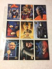 1994 Skybox Star Trek Master Series Comp Set Cards # 1-100 + 9 pc Crew Triptych