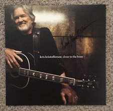 Kris Kristofferson - Closer To The Bone - Autographed Lp Signed Vinyl Record