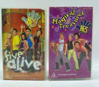 2 x Hi-5 Videos - Magical Treasures & 5 Alive - VHS - Free Post