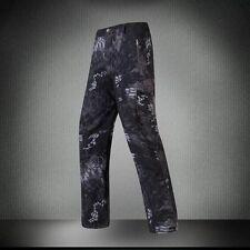 Mens Military Shark Skin Outdoor Pants Soft Shell Waterproof Fleece TAD Trousers