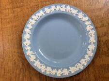 "Wedgwood Embossed Queensware cream on lavender smooth edge 6"" bread plate"