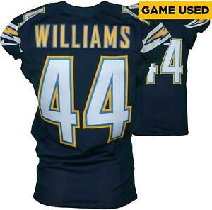 Andre Williams SD Chargers Game-Used #44 Blue Jersey vs KC Chiefs on Jan 1, 2017