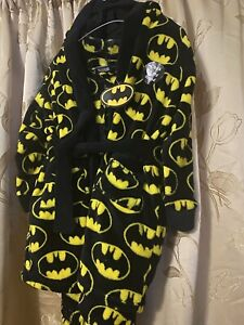 Black And Yellow Childrens Batman Dressing Gown