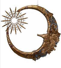 "Katherine's Collection 32"" Christmas Journey Metal Moon Display New"